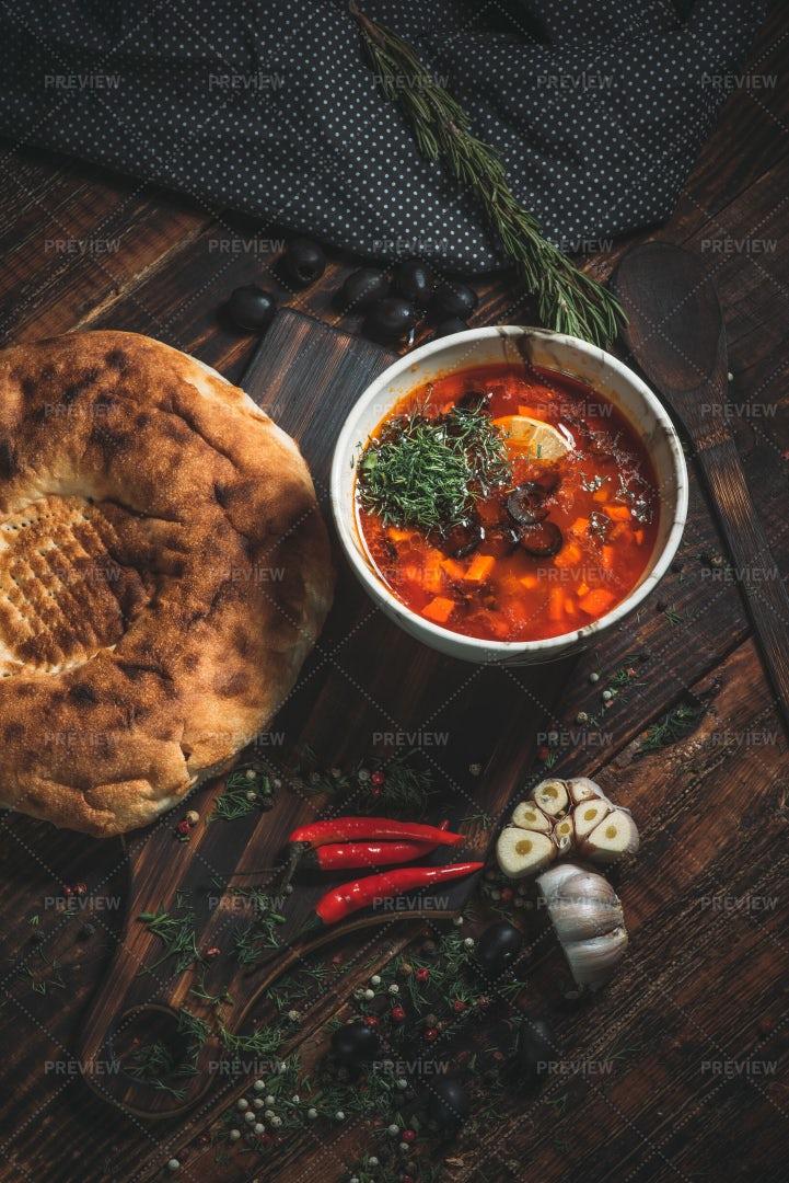 Spicy Tomato Soup: Stock Photos
