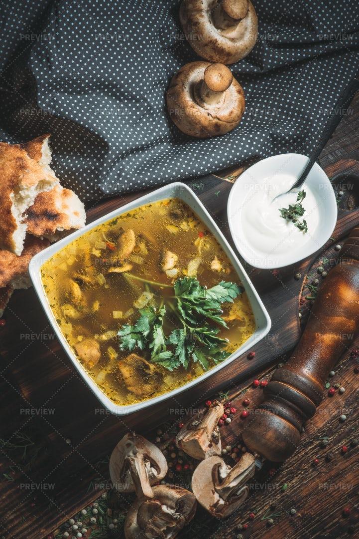 Mushroom Soup: Stock Photos
