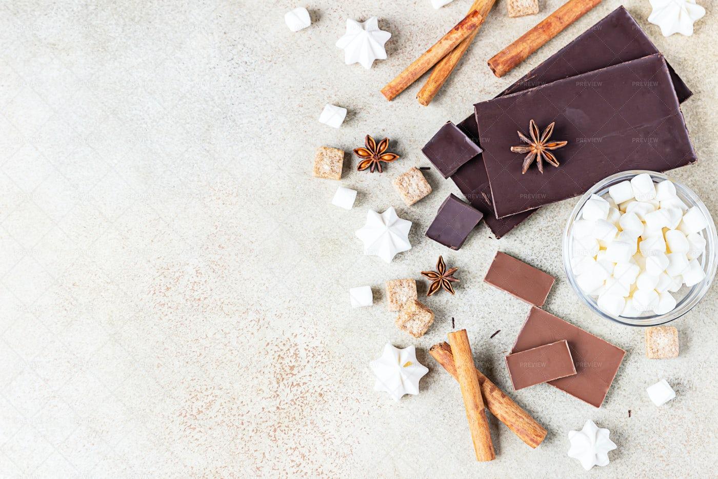 Chocolate Bar Pieces: Stock Photos