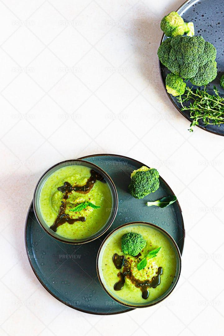 Broccoli  Soup: Stock Photos