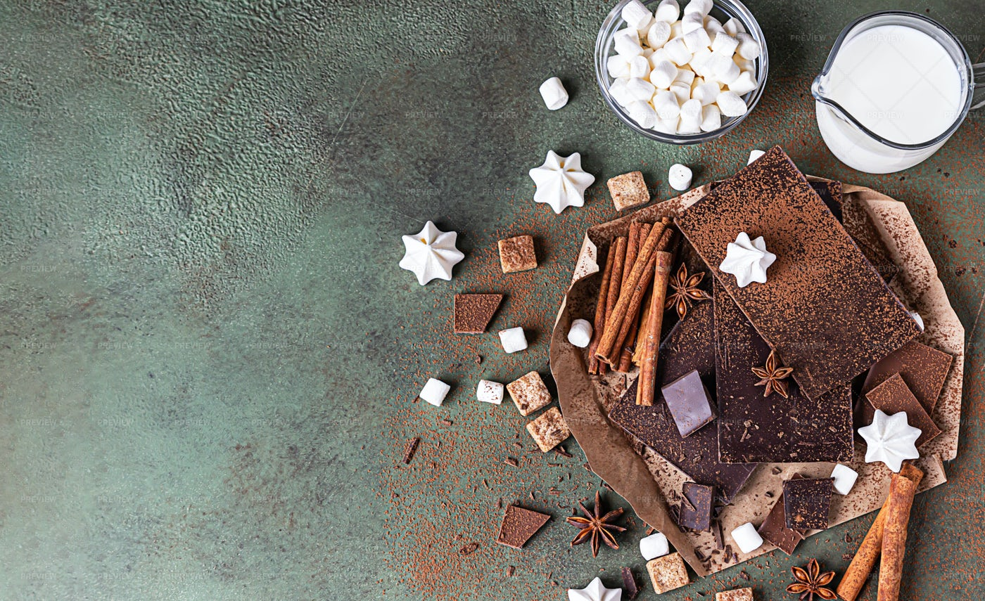 Hot Chocolate Ingredients: Stock Photos