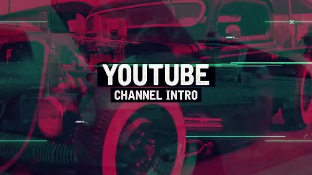 Trap Youtube Channel Intro: After Effects Templates