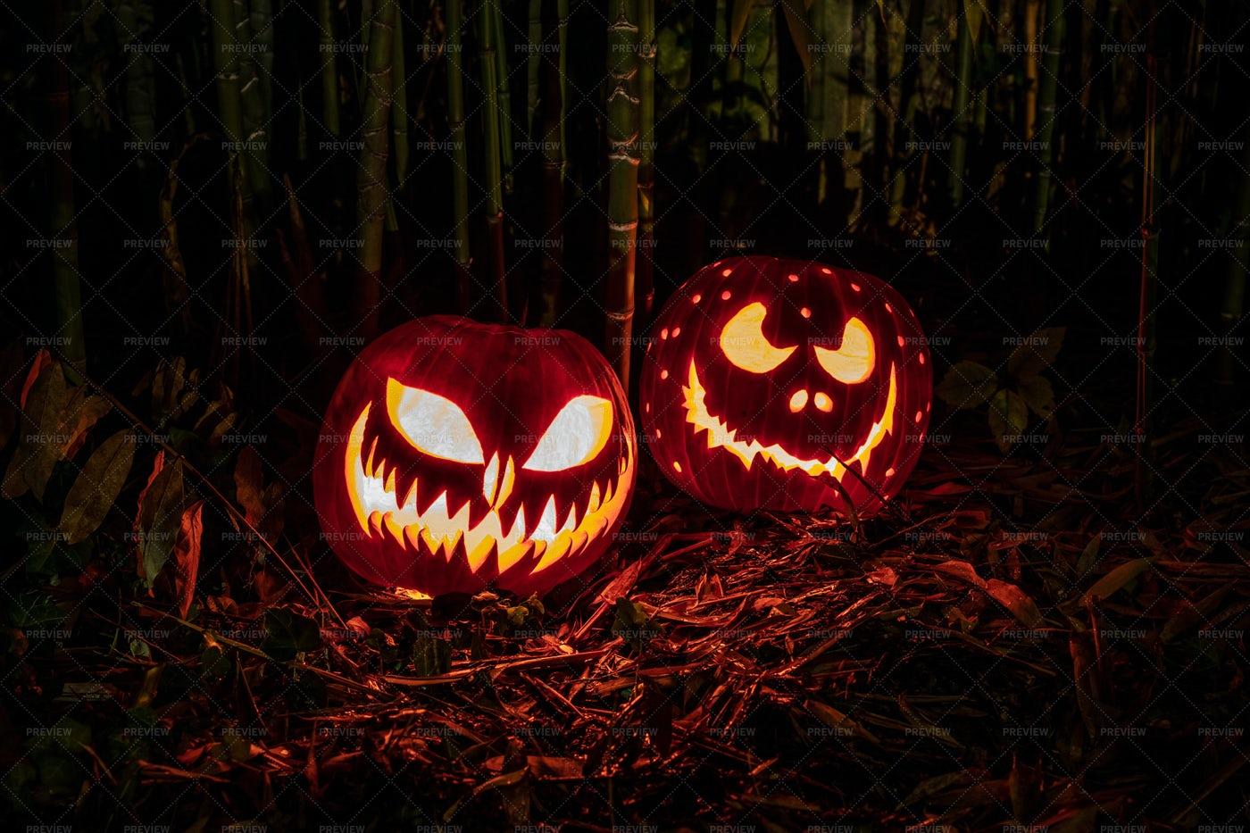 Halloween Pumpkins Lanterns: Stock Photos