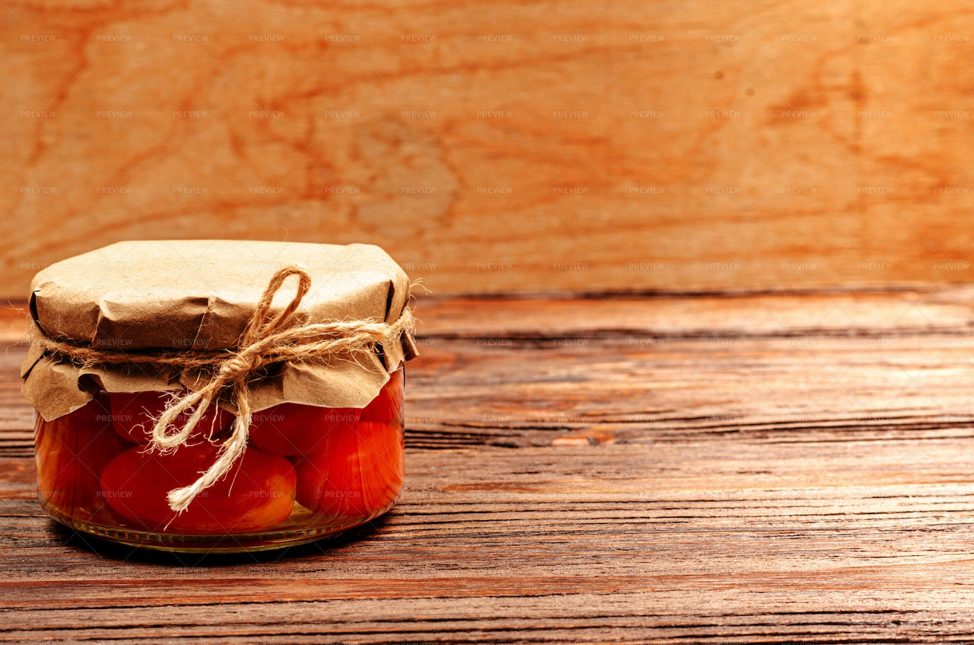 Canned Tomatoes In Jar: Stock Photos