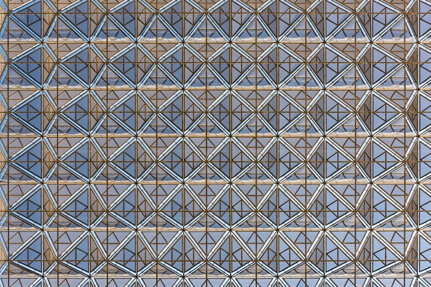 Modern Roof Geometric Design: Stock Photos