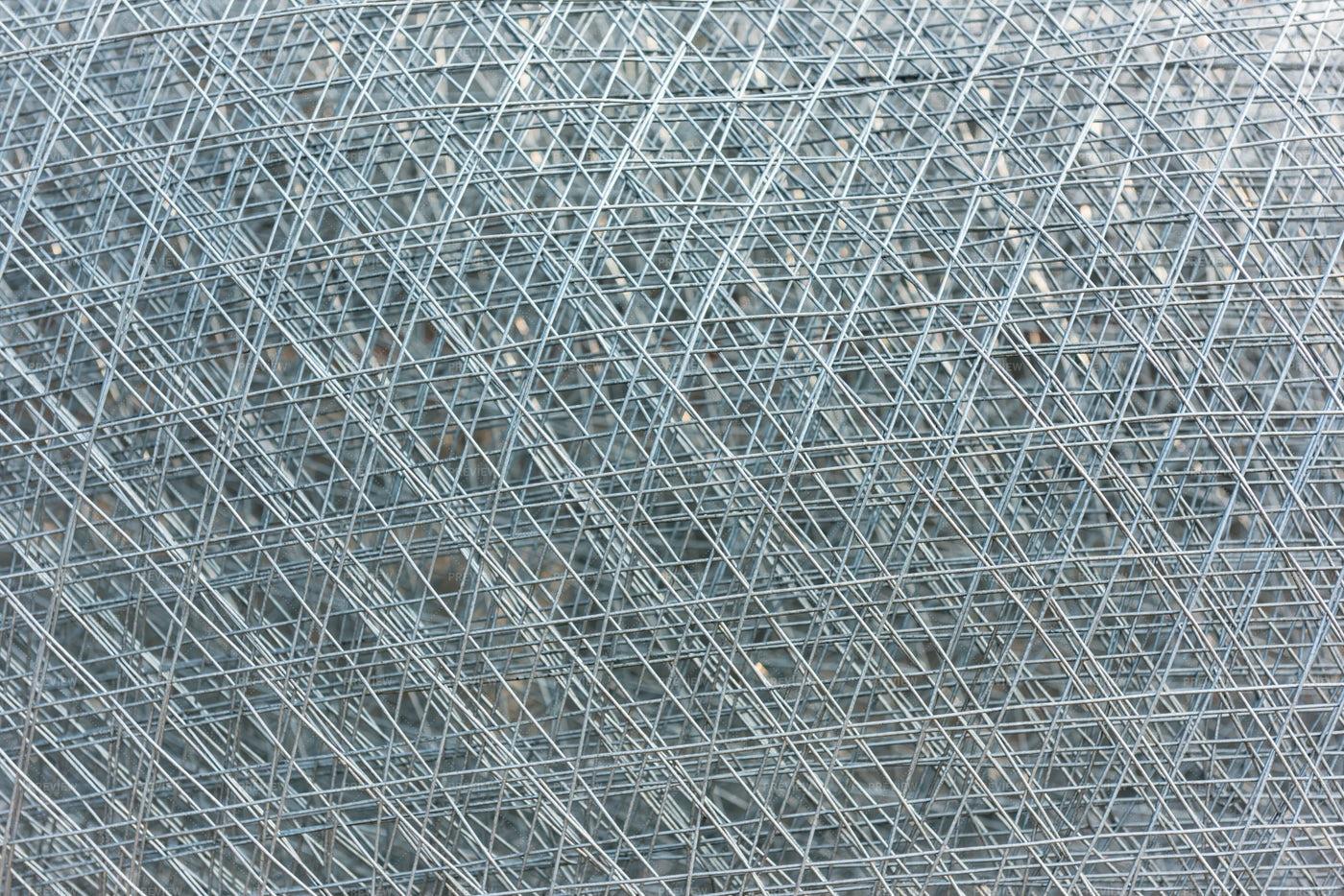 Reinforced Metal Grid: Stock Photos