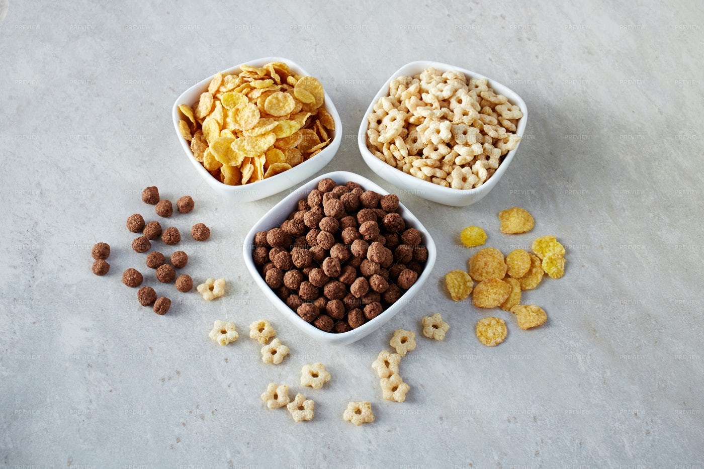 Cereals In Bowls: Stock Photos