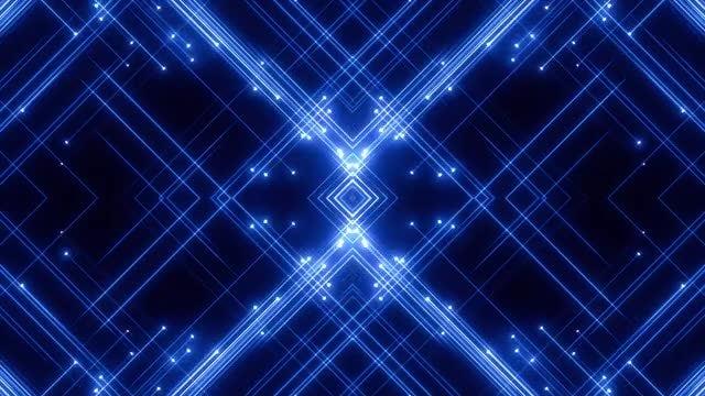 Blue Kaleidoscope Patterns VJ Loops: Stock Motion Graphics