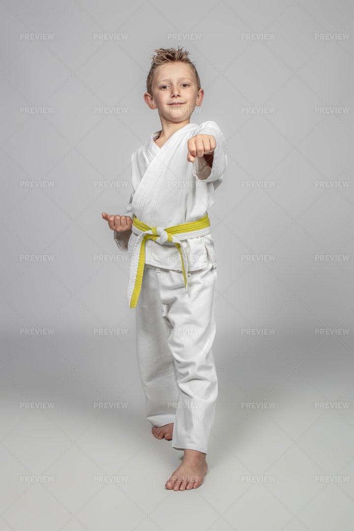 Child Practicing Martial Arts: Stock Photos