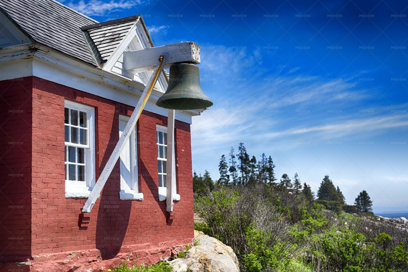 Old House With Bell: Stock Photos