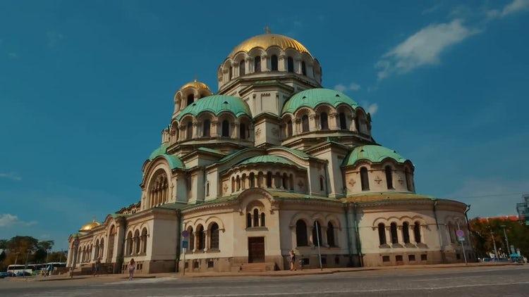 St. Alexander Nevsky Cathedral, Bulgaria: Stock Video