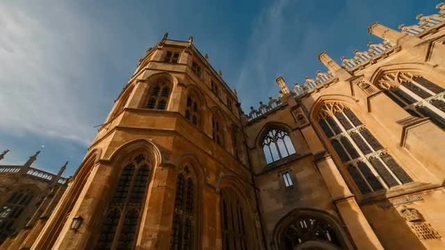 POV Of St George's Chapel: Stock Video