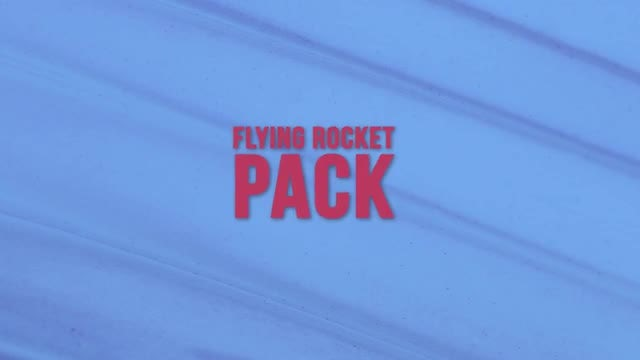 Flying Rocket Pack: Stock Motion Graphics