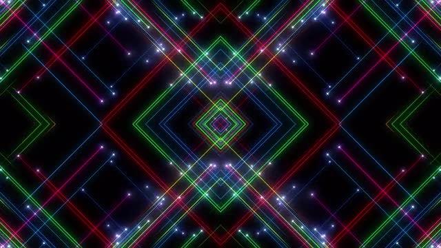 RGB Kaleidoscope VJ Loop Pack: Stock Motion Graphics