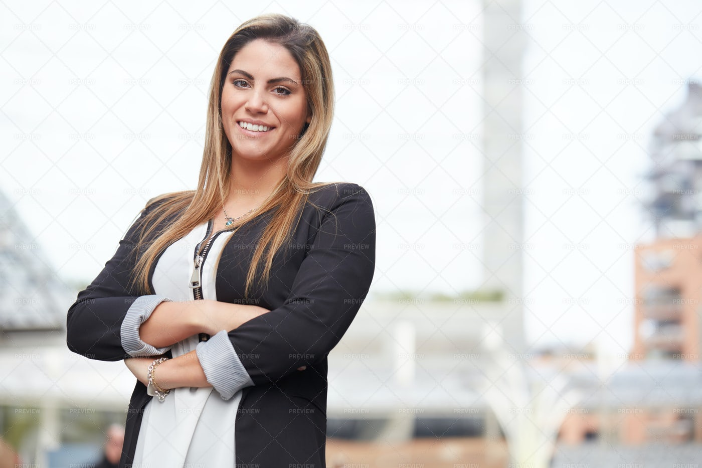 Businesswoman In Urban Environment: Stock Photos