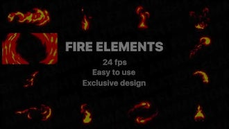 Hand-drawn Fire Elements Pack: Stock Motion Graphics