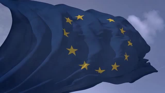 EU Flag: Stock Motion Graphics