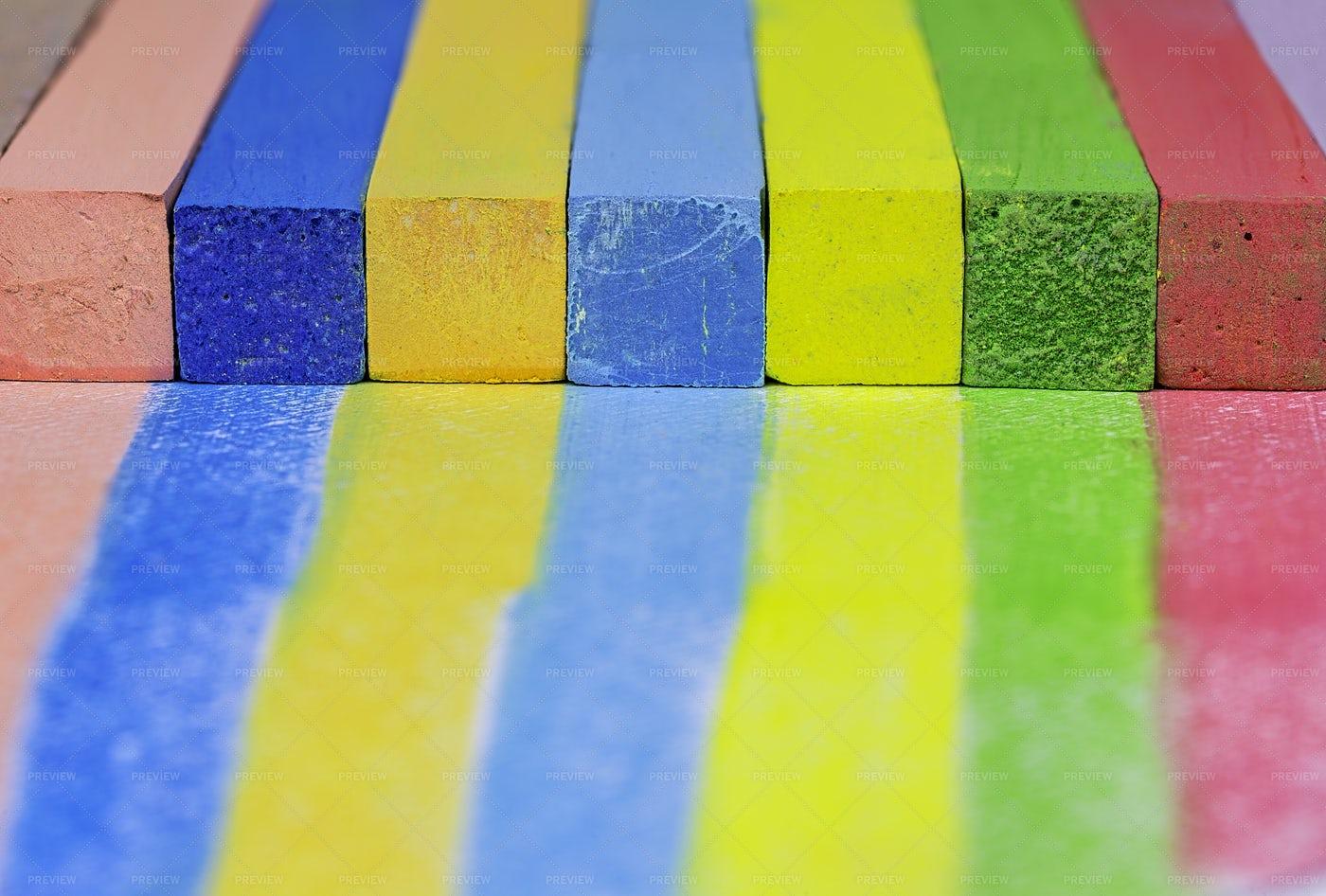 Colored Chalks: Stock Photos