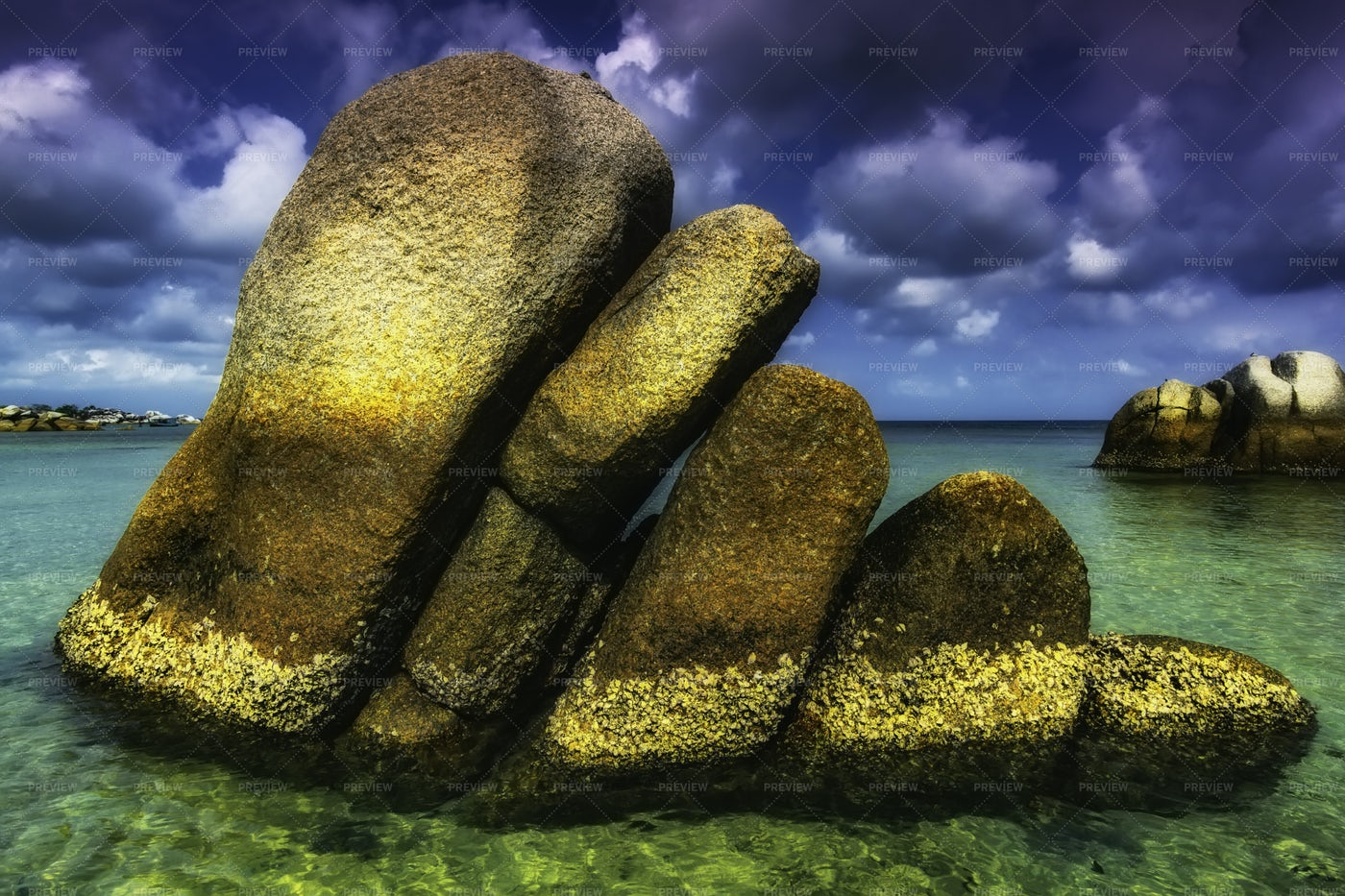 Stones In Tanjung Tinggi: Stock Photos