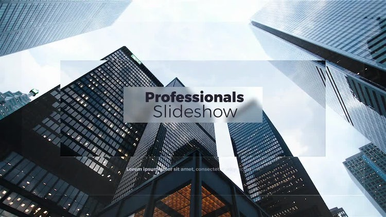 Professionals Slideshow: After Effects Templates