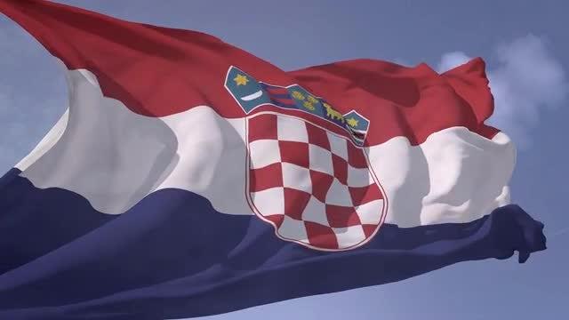 Croatia flag: Stock Motion Graphics