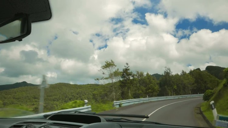 Driving Through The Azores Portugal: Stock Video