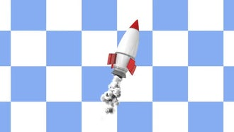 Cartoony Rocket: Motion Graphics