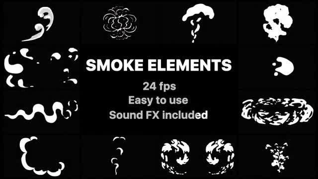2D FX Smoke Elements: After Effects Templates
