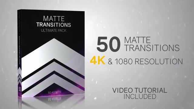 50 Matte Transitions - Ultimate Pack: Stock Motion Graphics