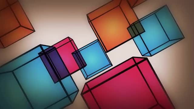Cubes Rotation Background: Stock Motion Graphics