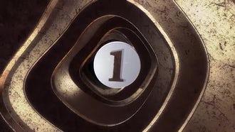 Metallic Tunnel Countdown: Stock Motion Graphics