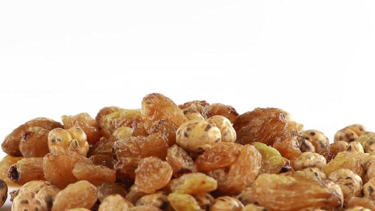 Raisins And Chickpea On Display: Stock Video