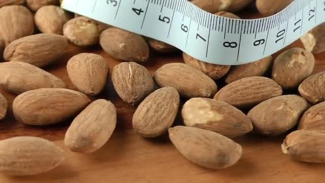 Close-Up Shot Of Almonds: Stock Video