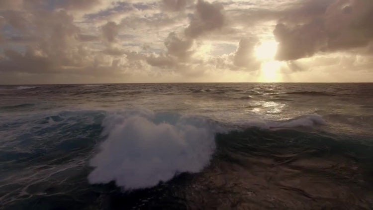 Oceanscape At Sunset: Stock Video
