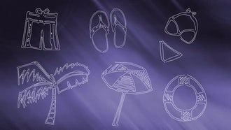 Summer Doodles Pack: Stock Motion Graphics