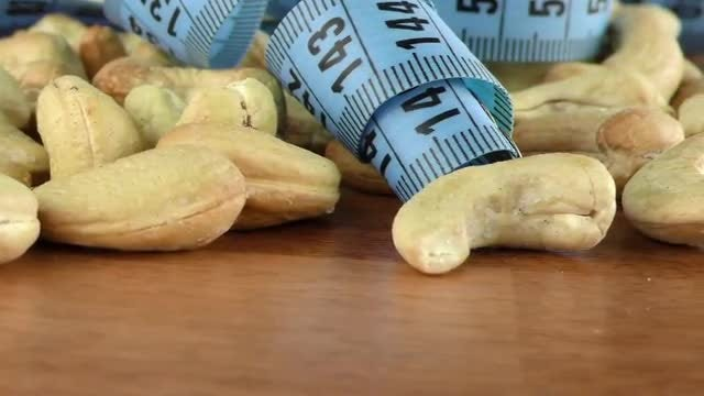 Close-up Shot Of Cashew Nuts : Stock Video