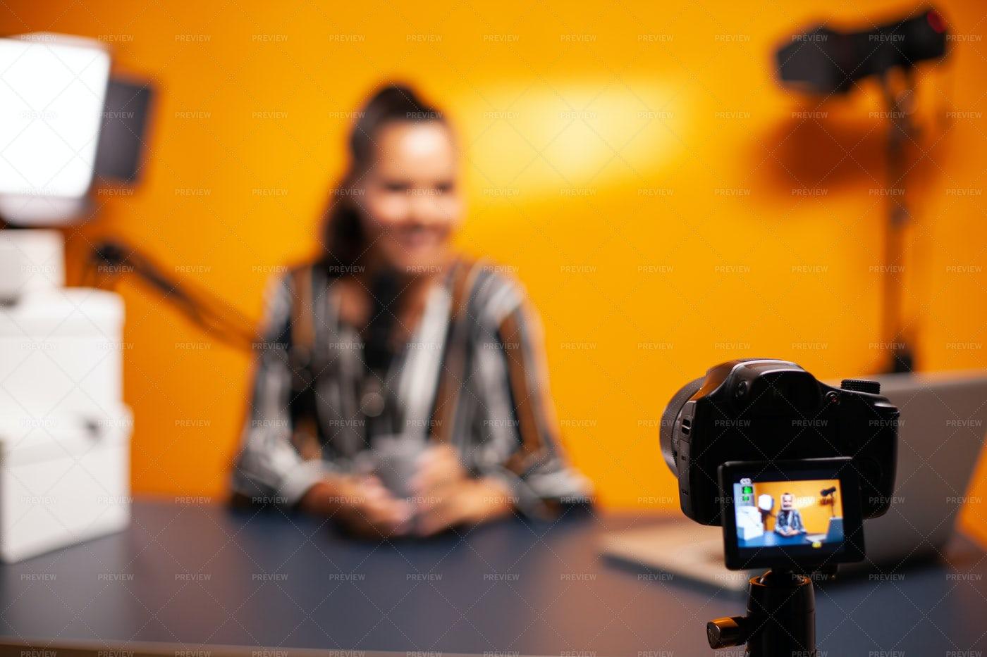 Camera Recording Videoblog: Stock Photos