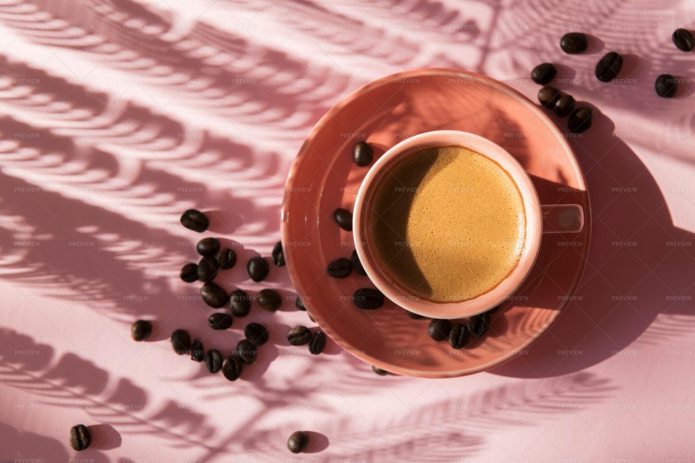 Coffee With Shadows: Stock Photos