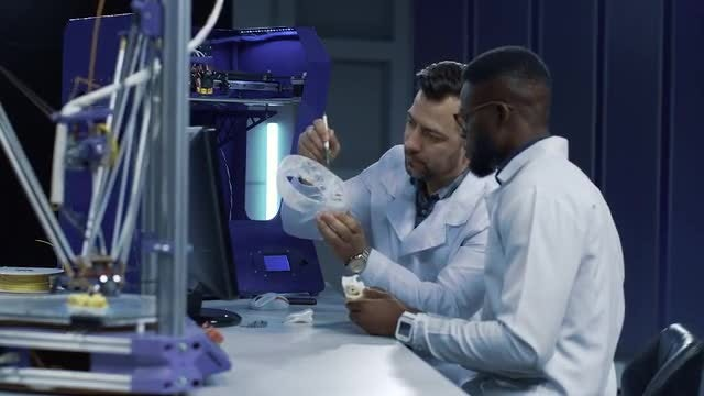 3D Printing For Medical Purposes: Stock Video