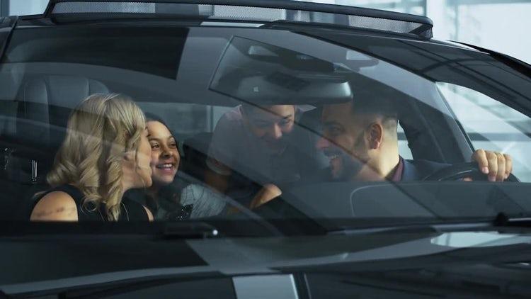 Happy Family In New Car: Stock Video