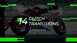 14 Glitch Transitions: Premiere Pro Templates
