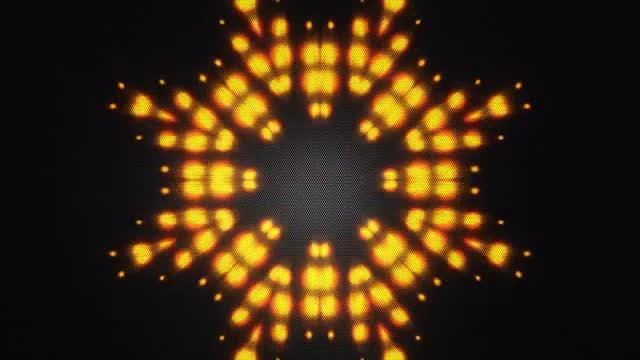 Yellow Disco LED VJ Background: Stock Motion Graphics