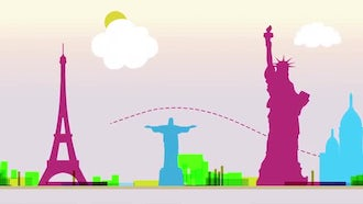 World Travel Background: Stock Motion Graphics