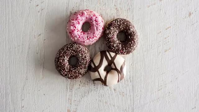 Cute Donuts Stop Motion : Stock Video