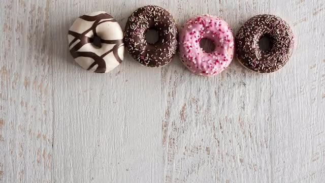 Donuts Stop Motion: Stock Video