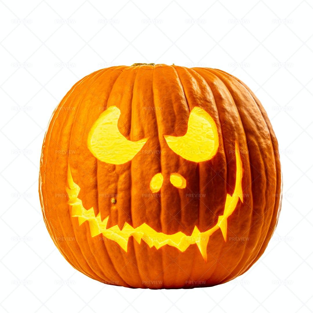 Carved Halloween Pumpkin: Stock Photos