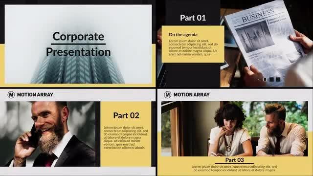 Minimal Corporate Presentation: Premiere Pro Templates