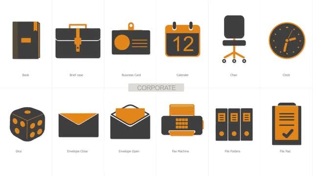 Essential Business Icons: After Effects Templates