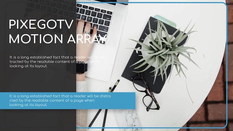 News Presentation / Minimal Slideshow: After Effects Templates