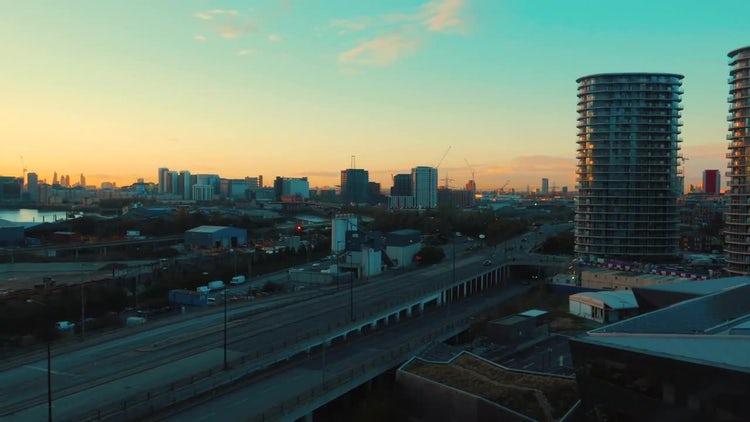 Docklands in London, UK: Stock Video